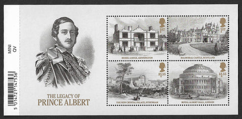 Queen Victoria Bicentenary u/m stamp miniature sheet The Legacy of Prince Albert