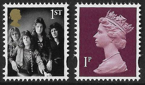 2020 Queen u/m mnh definitive stamp and 1p machin stamp ex. Prestige book