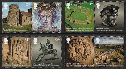 2020 Roman Britain u/m mnh stamp set