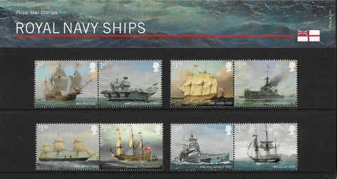 Royal Navy Ships stamp presentation pack