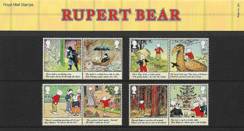 2020 Rupert Bear u/m mnh stamp presentation pack