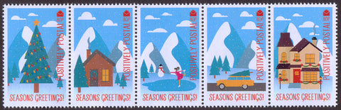 2018 Positively Postal Christmas Artistamps x 5