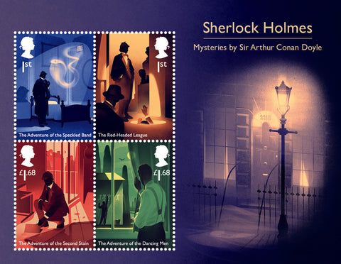 2020 Sherlock u/m mnh stamp miniature sheet