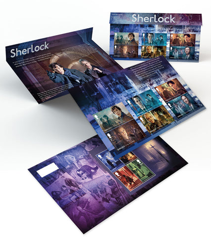 2020 Sherlock u/m mnh stamp set and miniature sheet combined presentation pack
