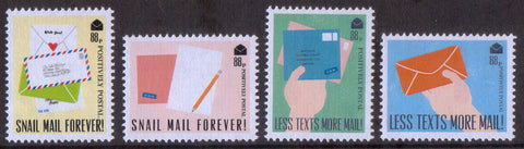 2018 Positively Postal Snail Mail Forever Artistamps x 4