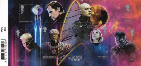2020 Star Trek u/m mnh stamp miniature sheet
