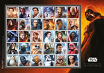 2019 Star Wars u/m mnh Complete stamp Sheet - 30 x 1st