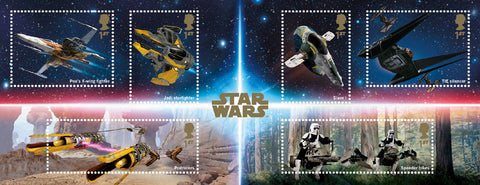 2019 Star Wars u/m mnh stamp miniature sheet
