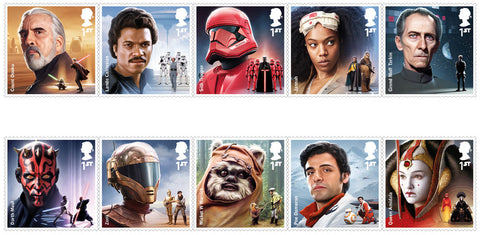 2019 Star Wars u/m mnh stamp set