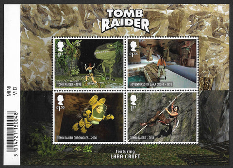 2020 Video Games Tomb Raider u/m mnh stamp miniature sheet
