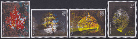 2017 Positively Postal Trees Artistamps x 4