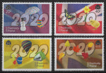 2020 Positively Postal Union Jack Four Seasons Artistamps x 4