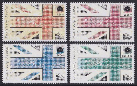 2016 Positively Postal Union Jack Artistamps x 4