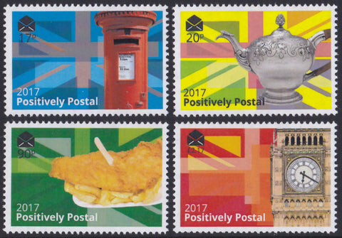 2017 Positively Postal Union Jack Artistamps x 4