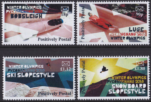 2018 Positively Postal Union Jack Winter Olympics Pyeongchang Artistamps x 4