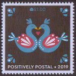 2019 Positively Postal Valentine's Day Artistamps x 2