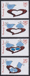 2016 Positively Postal Artistamps Valentine's Day Love Birds and Chicks