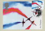 2008 Air Displays 1st class Red Arrows stamp PHQ maxi card