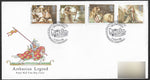 1985 Arthurian Legend First Day Cover Tintagel Cornwall Handstamp