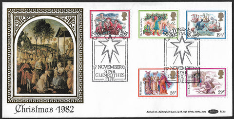 Christmas 1982 Benham First Day Cover