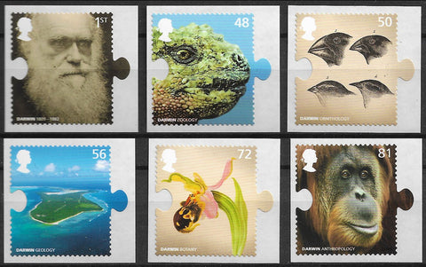 2009 Charles Darwin stamps set of 6 SG2898-2903