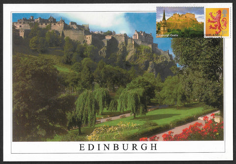 GB 2007 Glorious Scotland 1st class stamp Smilers maxi card Edinburgh Castle
