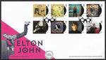 Elton John stamp set First Day Cover