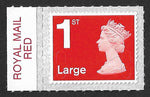 1st class Large u/m bright scarlet M18L machin stamp SG U3003 with Royal Mail Red colour tab