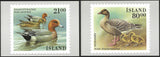 1990 Iceland Birds stamp postcards