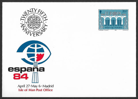 1984 Isle of Man Post Office Authority Espana 84 Madrid pre-stamped card #3