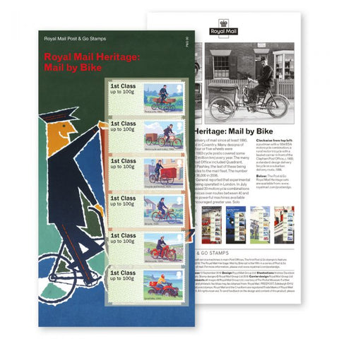 Royal Mail Heritage Mail By Bike Stamp Set