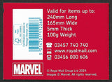 2019 Marvel u/m 1st class stamp booklet PM65