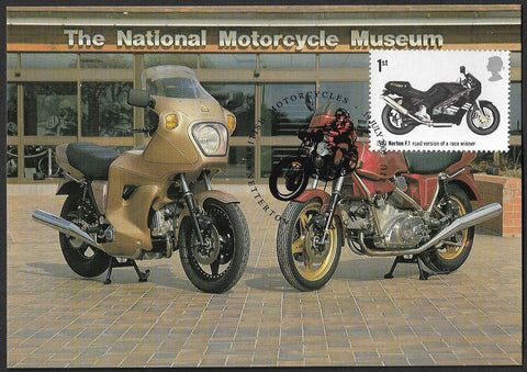 GB 2005 Motorcycles Norton F.1 1st class stamp maxi card
