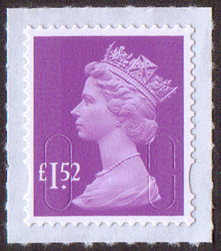 £1.52 u/m bright mauve M15L machin stamp no source code SG U2946