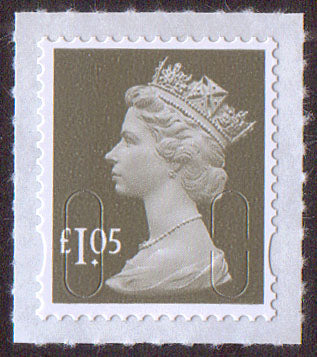 £1.05 grey-olive u/m deep mauve M16L machin stamp no source code SG U2935