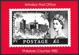 1982 Royal Mail Postcard Windsor Post Office Philatelic Counter