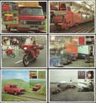 GB 1981 Post Office Picture Cards x 6 Postal Transport