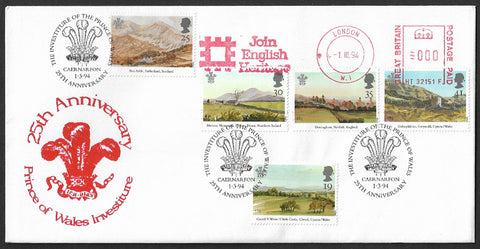 GB 1994 25th Anniversary of Investiture of the Prince of Wales stamp First Day Cover