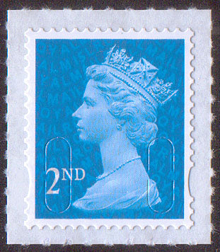 2nd class u/m bright blue M15L machin stamp SG U2995