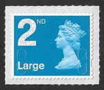 2nd class Large u/m bright blue M16L machin stamp SG U3000