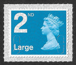2nd class Large u/m bright blue M17L machin stamp SG U3000 SBP Ls