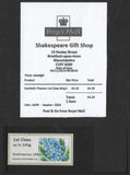 2019 Post and Go Symbolic Flowers with Shakespeare 1564 overprint