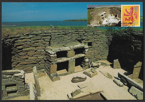 GB 2007 Glorious Scotland 1st class stamp Smilers maxi card Skara Brae