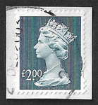 GB 1999 £2 high value machin definitive stamp used Y1801