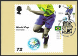 GB 2006 World Cup Football stamp PHQ maxi cards x 6 SG 2628-2633