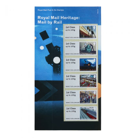 Royal Mail Heritage: Mail by Rail Post & Go Stamp Set