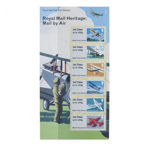 Royal Mail Heritage: Mail by Air Post & Go Stamp Set