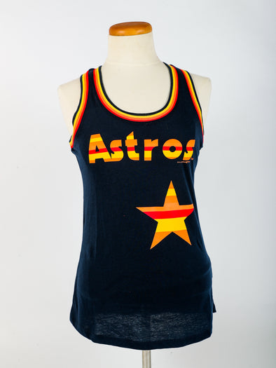 Houston Astros Women's New Era Rainbow Stripe Tank