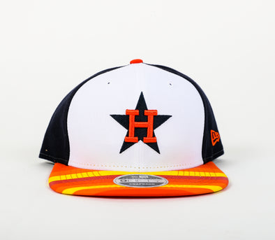 Houston Astros Youth New Era Rainbow Visor Snapback Hat