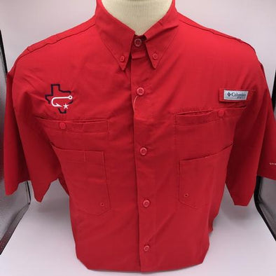 Columbia - Fishing Shirt - Tamiami - Fauxback - Red